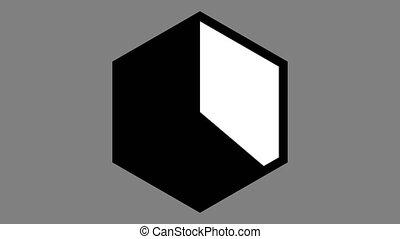 hexagone, ux, minuteur, horloge