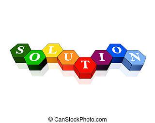 hexahedrons, couleur, solution