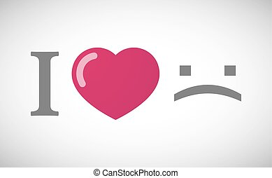"hiéroglyphe, love"", texte, ""i, figure, triste"