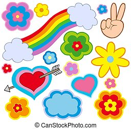 hippie, décorations