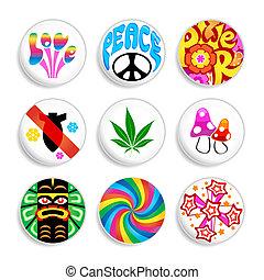 hippie, insignes
