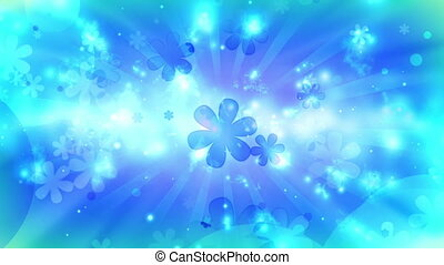 hippie, retro, bleu, boucle, cosmique
