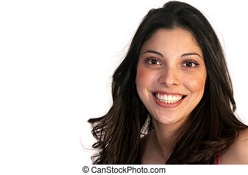 hispanique, femme souriante