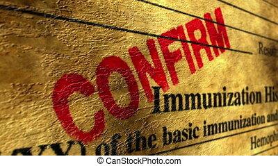 histoire, confirmer, immunisation
