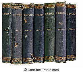 histoire, livres, vieux