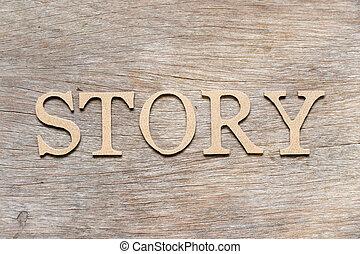 histoire, mot, fond, alphabet, bois, lettre