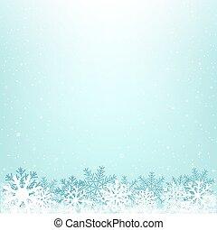 hiver, noël, fond, neigeux