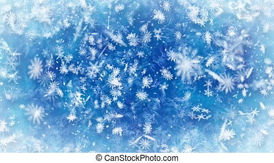 hivernal, chute neige, fond, loopable