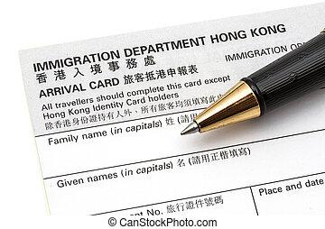 hk, carte, arriva