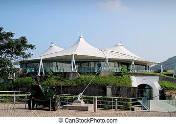 hk, musée, défense, côtier