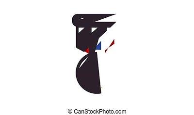 hockey, icône, animation