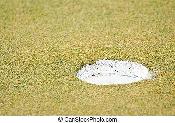 hole., golf