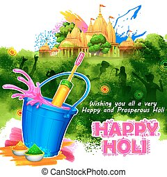 holi, festival, couleurs, salutations, fond, heureux, célébration