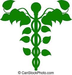 holistique, adn, concept, caducée, médecine, ou