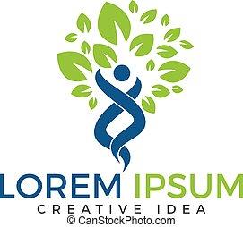 holistique, wellness, santé, fitness, logo, logo., design.