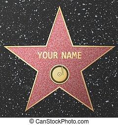 hollywood, étoile, renommée