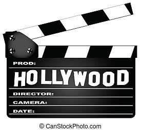 hollywood, clapperboard