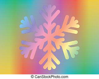 hologramme, flocon de neige