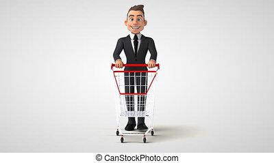 homme, 3d, business, amusement, dessin animé
