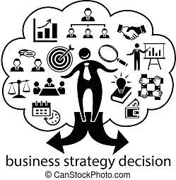 homme affaires, décision, stratégie