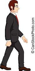 homme affaires, dessin animé