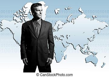 homme affaires, global