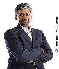 homme affaires, indien