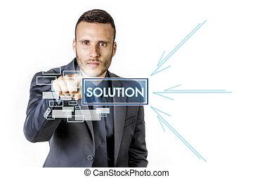 homme affaires, solution