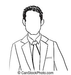 homme, avatar, business