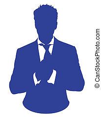 homme, avatar, costume