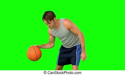homme, basket-ball, formation