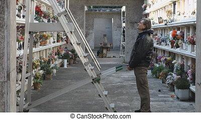 homme, cimetière