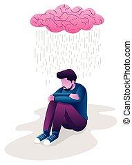 homme, dépression