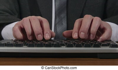 homme, dactylographie, business, clavier