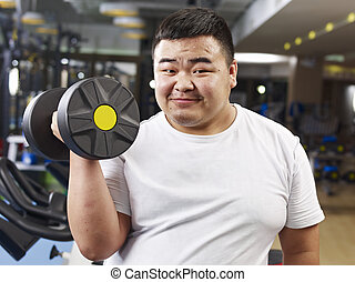 homme, excès poids, exercisme