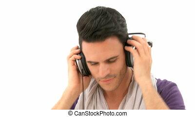homme, musique, écoute