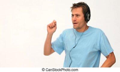 homme, musique écouter, danse