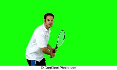 homme, tennis, jouer, séduisant
