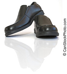 hommes affaires, chaussures