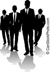 hommes, business, flèche
