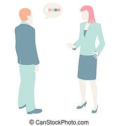 hommes, communiquer, femmes