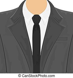 hommes, costume noir