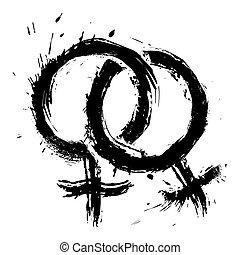 homosexuel, amour, womans