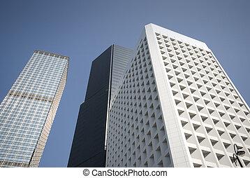 hong, bâtiments, kong