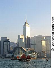 hong, centre, voile, &, kong, exposition, convention, bateau