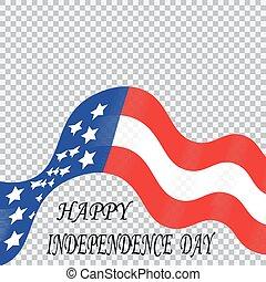 honneur, indépendance, bande, couleurs, national, stylisé, etats unis, jour, drapeau