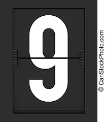 horaire, 9, mécanique, nombre, planche