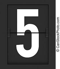 horaire, mécanique, 5, nombre, planche