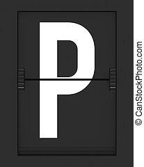 horaire, p, planche, lettre, mécanique