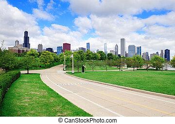 horizon, parc, sur, chicago